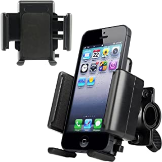 RawX Universal Adjustable Mountain Cruiser Road Rotating Bicycle Mount Bike Handlebar Cell Phone Holder Cradle for iPhone 4/4s/5/5s/5c/6 Samsung Galaxy S3 S4 S5 Note 1 2 3 Blackberry z10, HTC One, MX2 3 GPS