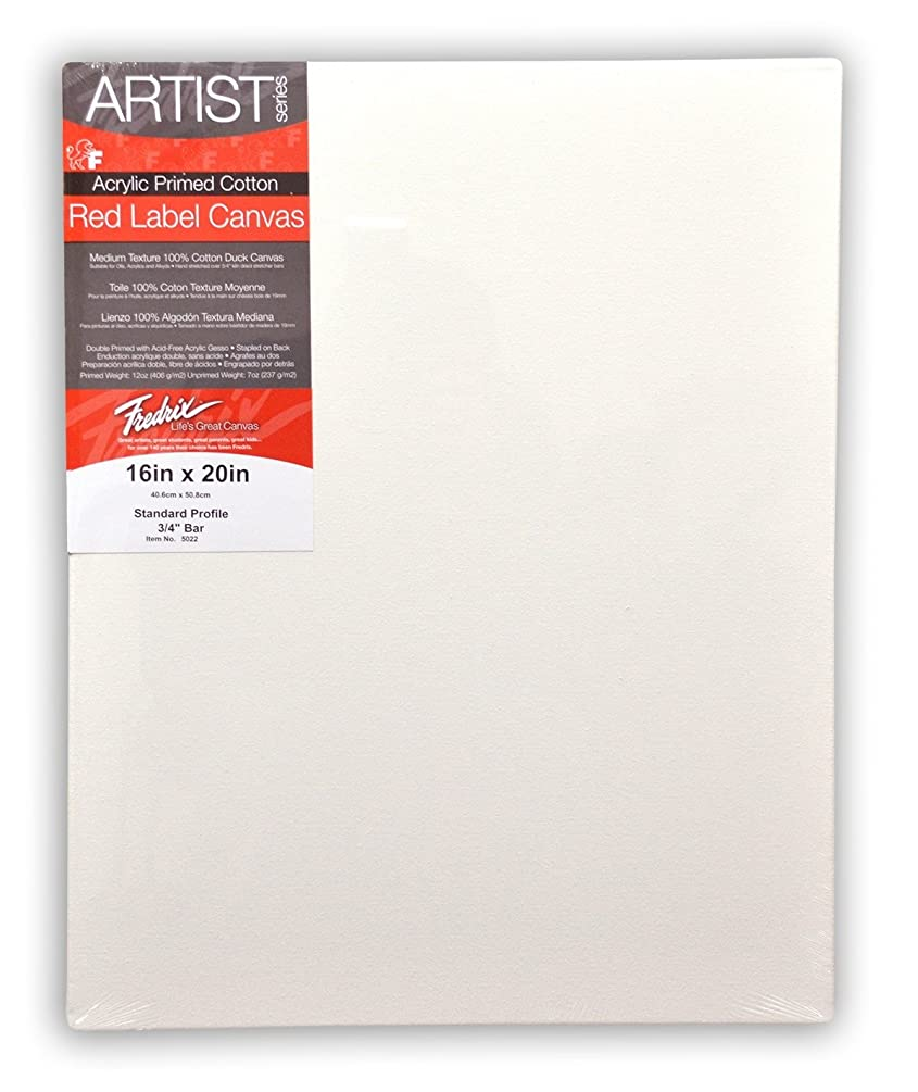 Fredrix Red Label Stretched Cotton Canvas 6 in. x 8 in. Each