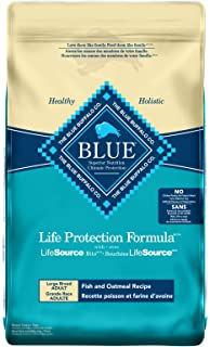 Blue Buffalo Life Protection Formula Large Breed Dog Food Natural Dry Dog Food For Adult Dogs Fish And Oatmeal 26 lb Bag
