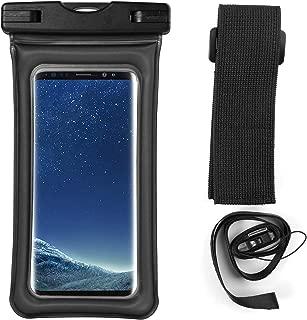 Floating Waterproof Dry Bag w/Armband & Lanyard for Samsung Galaxy S10+ S9+ S8+ / A20 A30 A50 M30 A6+ A7 A8+ / J4+ J6+ J8 / Huawei P30 Pro/Motorola G7 Plus/LG V50 ThinQ/Nokia 3.2 (Black)
