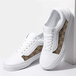 783db2d358 Vans White Old Skool x Gucci Custom Handmade Shoes By Fans Identity