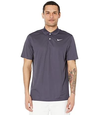 Nike Golf Dry Victory Polo Solid (Gridiron/White) Men