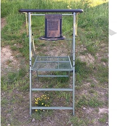 EUROHUNT ansitz Chaise avec Oranges Passepoil et Pieds en m/étal/ /65/cm de Haut