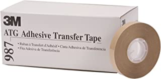 3M ATG Adhesive Transfer Tape 987, 0.50 in x 36 yd 2.0 mil (Case of 12)