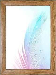 DR24 fotolijst 50x150 (Eik rustiek) op maat gemaakt, 35 mm brede MDF-houten frame inclusief anti-reflecterende kunstglas r...