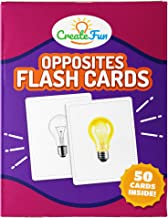 Opposites Matching Flash Cards Game | 50 Matching Educational Photo Cards | 7 Learning Games | for Parents, The Classroom, Toddler Learning Activities, Speech Therapy Materials