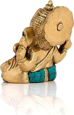 Collectible India Brass Ganesha Idol Long Ear Ganesh Statue Goodwill,Good Luck Gift