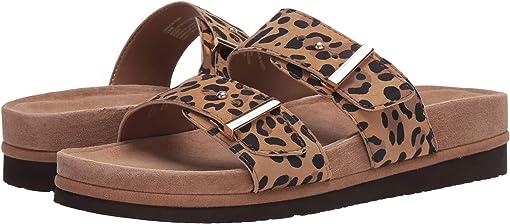 Brown Multi Silky Suede Leopard Print