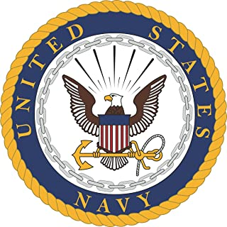 US Navy United States Navy U.S. Navy Seal Military Veteran Served Window Bumper Sticker Vinyl Decal 3.8