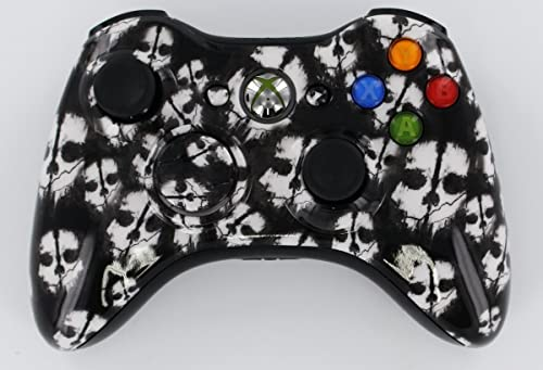 Xbox 360 Modded Controller COD GHOST WHITE 30 Mods + FREE Pouch Case