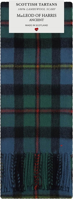 MacLeod of Harris Ancient Tartan 100% Lambswool Scarf Made in Scotland