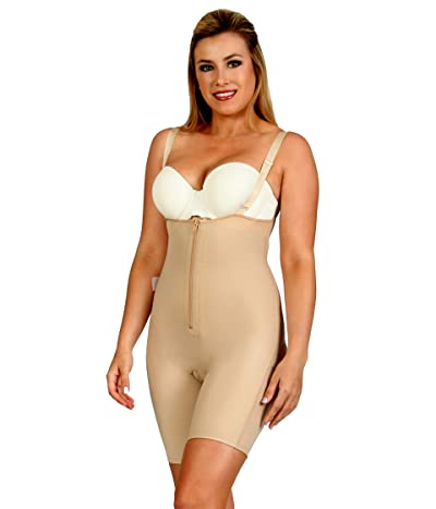 InstantRecoveryMD Underbust Bodyshorts with Front Zipper and Open Backside Compression Shapewear (Nude) Women