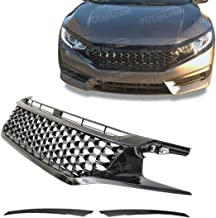 PULips(HDCV16TRFG) JDM Modulo Mesh Style Front Grill For Honda Civic Coupe 2016+UP