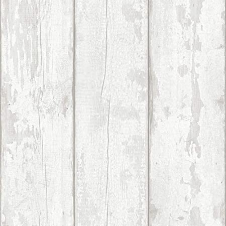 Arthouse Grey Washed Wood Wallpaper - Panel Effect - Natural Weathered - Photographic Style - Realistic - 694701
