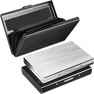 Yosemy Tarjetero para Tarjetas de Crédito, Delgado Billetera de Aluminio con RFID Bloqueo para Tarjetas de Visita, 3 Pieza...