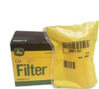 John Deere Original Equipment Fuel and Oil Filter M806419/M801101 Kit