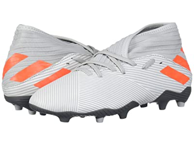 adidas Kids Nemeziz 19.3 FG Soccer (Little Kid/Big Kid) (Grey/Solar Orange/Chalk White) Kids Shoes