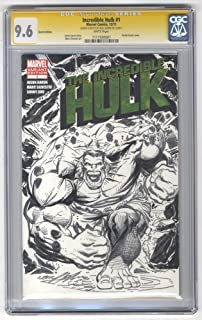 Hulk original drawn on The Incredible Hulk #1 Blank Variant CGC 9.6