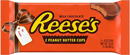 REESE'S Milk Chocolate Peanut Butter Cups Candy, Valentine's Day Gift, 1 Lb. Pack