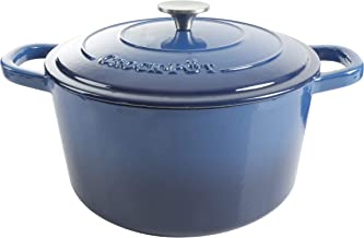 CROCK-POT 69145.02 Artisan Round Enameled Cast Iron Dutch Oven, 7-Quart, Sapphire Blue