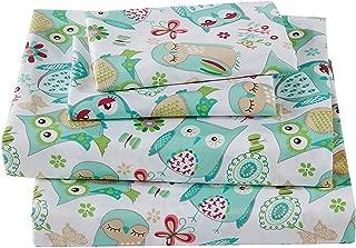 Mk Collection 4pc Sheet Set Queen Teen/Girls Owl Teal Green Aqua New