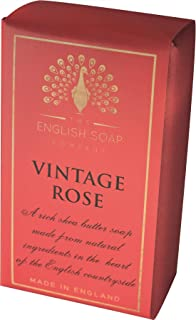 The English Soap Company, Pure Indulgence Vintage Rose, Vegan Shea Butter Soap, 200g