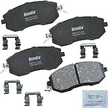 Bendix Premium Copper Free CFC1539 Premium Copper Free Ceramic Brake Pad (with Installation Hardware Front)