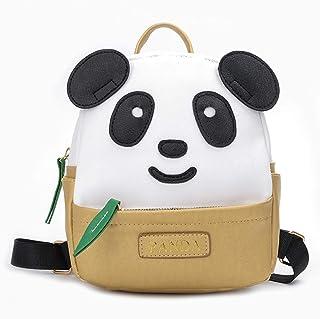 YUMILI Panda Backpack Children's Cartoon Children's Nursery School Bag Fashion Bag Lovely Panda Backpack (Color : Gold, Size : X-Large)