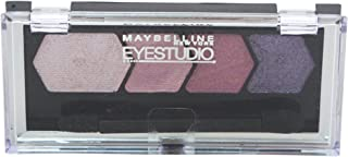 Maybelline Studio Color Plush Quad Eye Shadow for Women, 145 Plum Passion, 0.09 Ounce