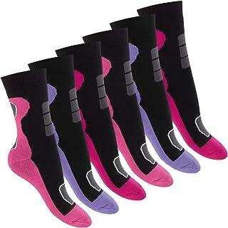 Footstar, Calcetines de invierno para mujer (6 pares), de rizo completo con efecto térmico