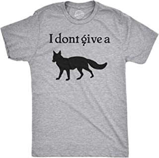 Mens I Don't Give a Fox Tshirt Funny Forest Animal Offensive Tee for Guys