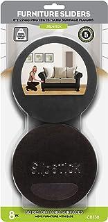 """Slipstick CB138 Premium Felt Furniture Movers for Hardwood Floors (8 Pack) Reusable 5"""" Round Felt Sliders for Moving Heavy..."""