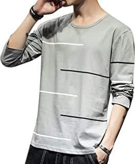 MissX メンズ Tシャツ 長袖 カットソー ファッション カジュアル トップス 快適 無地 春秋