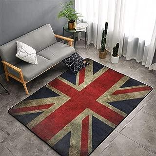 Vintage UK British Flag Area Rug Carpets Non-Slip Doormat Living Room Bedroom Floor Mat Home Decor (150X100CM)
