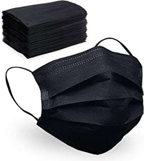4-Layer Disposable Face Mask, 50 Pcs Safety Protected Masks with Elastic Ear Loop Comfortable Breathable
