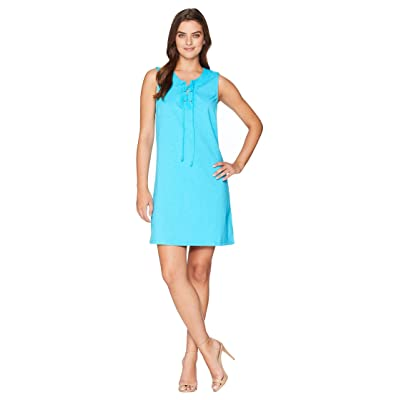 Tommy Bahama Jer-Sea Sleeveless Tie Front Dress (Pool Party Blue) Women