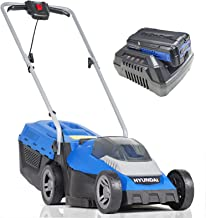 Hyundai Cordless Lawnmower with Powerful 40V Battery & Charger. Lightweight Rotary Lawn Mower, 3 x Height Adjustable, 33cm...
