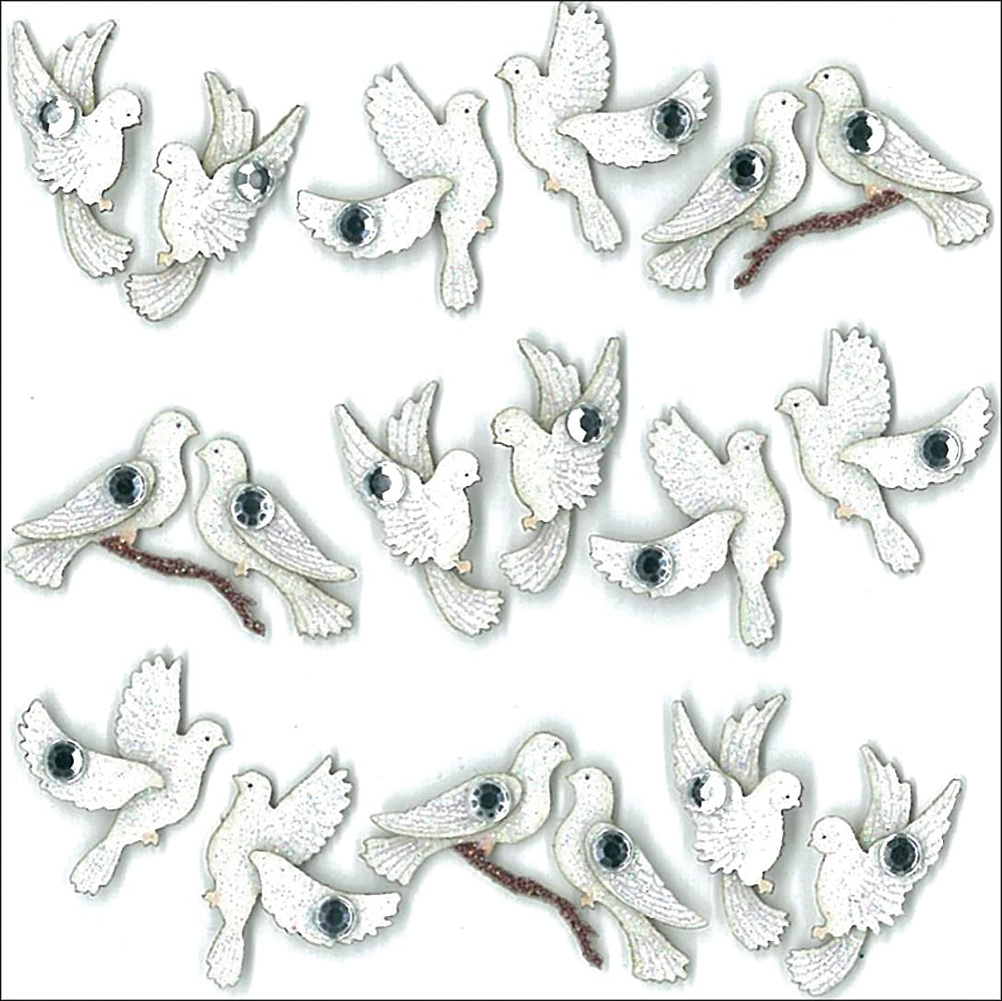 Jolee's Boutique Dimensional Stickers, Wedding Doves