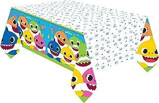 amscan 572527 Baby Shark Rectangular Paper Tablecover - 1 Pc