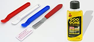 Goo Gone Removal Fluid (2oz) + Scotty Peeler Label & Sticker Removers (3 Original, 1 Metal) - [Bundle]