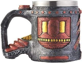 Retro Pistol Mug Resin Stainless Steel Double Layer Insulation Drinking Cup snowvirtuosau