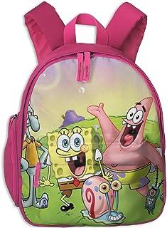 Mochila Escolar de Bob Esponja, Mochila de Lona Universal para niños y niñas, Rosa (Rosa) - Pink-48