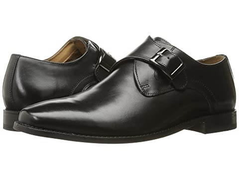 Men's Florsheim Montinaro Double Monk Strap, Size: 10.5 D, Black Smooth Leather