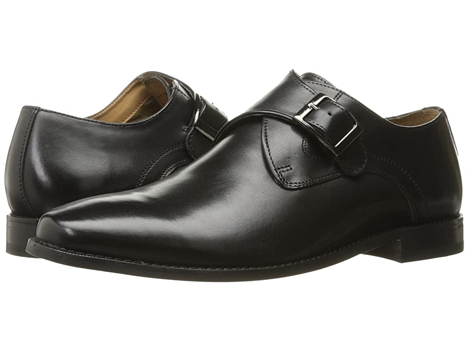 Florsheim Montinaro Single Monk Strap (Black Smooth) Men