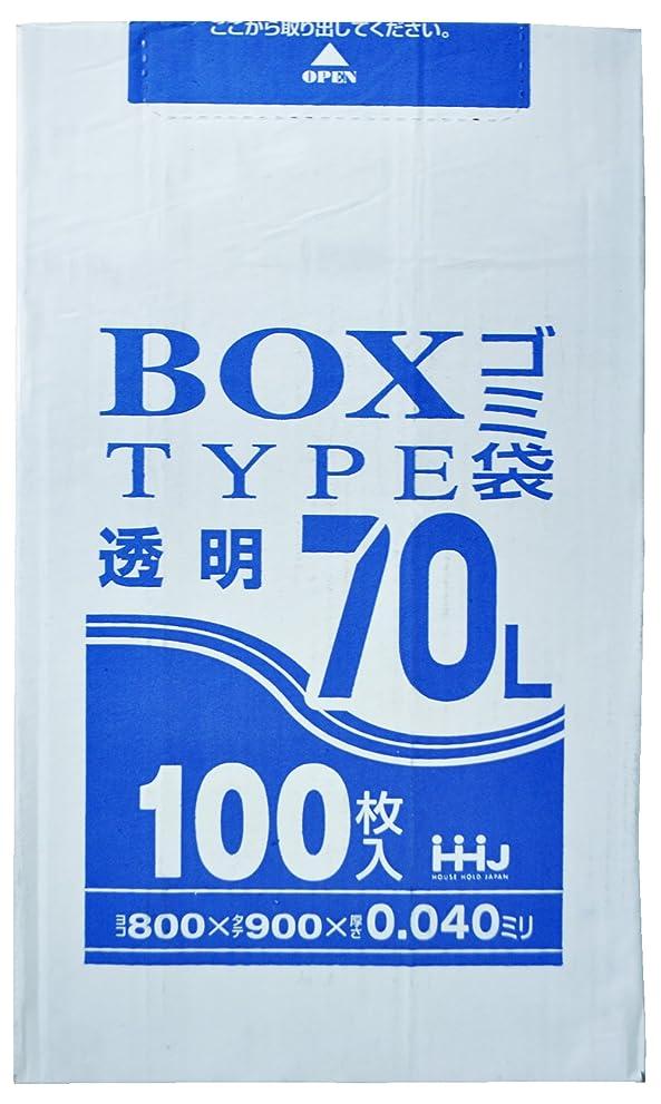 痛みリビジョン記念碑的なポリ袋 透明 箱入タイプ 70L 厚さ0.04mm 100枚入 BL-73