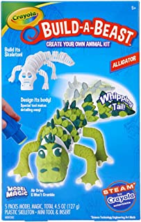 Crayola Build A Beast Gator, Model Magic Craft Kit, Steam/ Stem Learning Toys, Gift for Kids, 5, 6, 7, 8