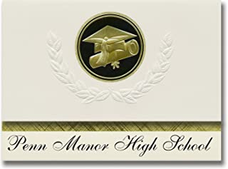 Signature Announcements Penn Manor High School (Millersville, PA) Graduation Announcements, Presidential style, Elite pack...