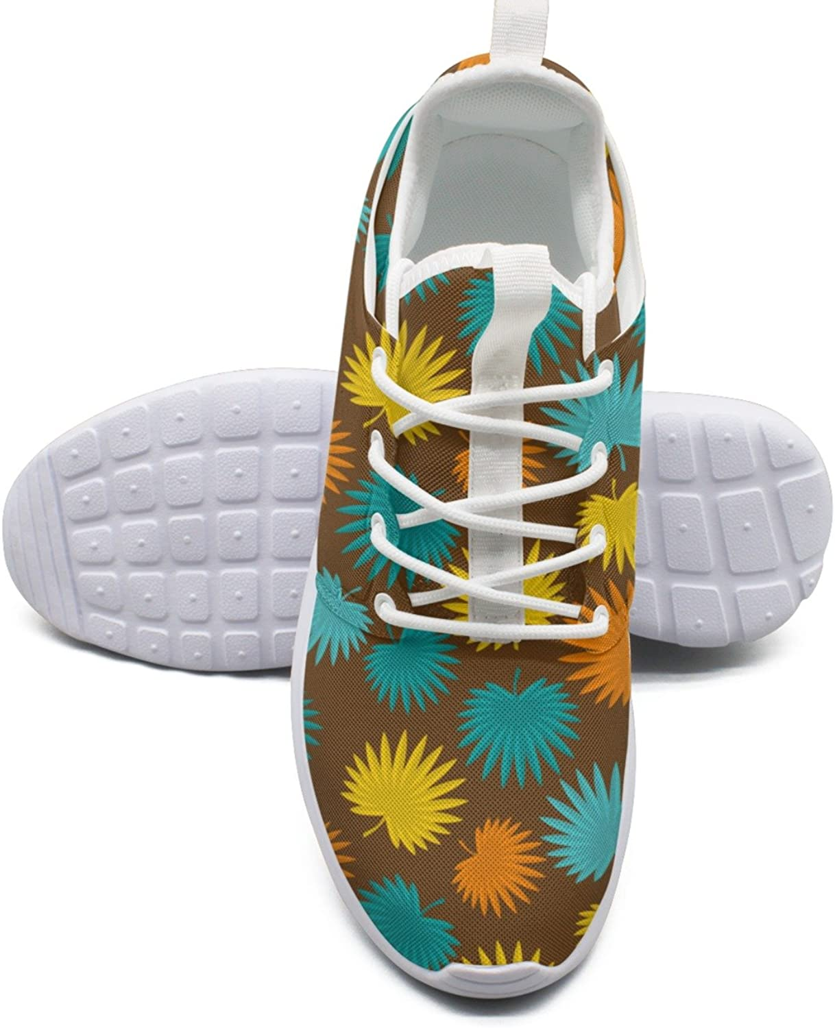 Tropical Pattern With Stylized Palm Bright Running shoes Women size 10