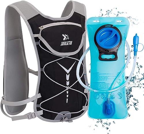 BTNEEU Sac Hydratation avec Poche d'eau 2L, Sac à Dos Running Léger 6L pour Homme Femme, Sac à Dos Course à Pied Sac ...
