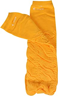 Wrapables Colorful Baby Leg Warmers, half Ruched orange, One Size